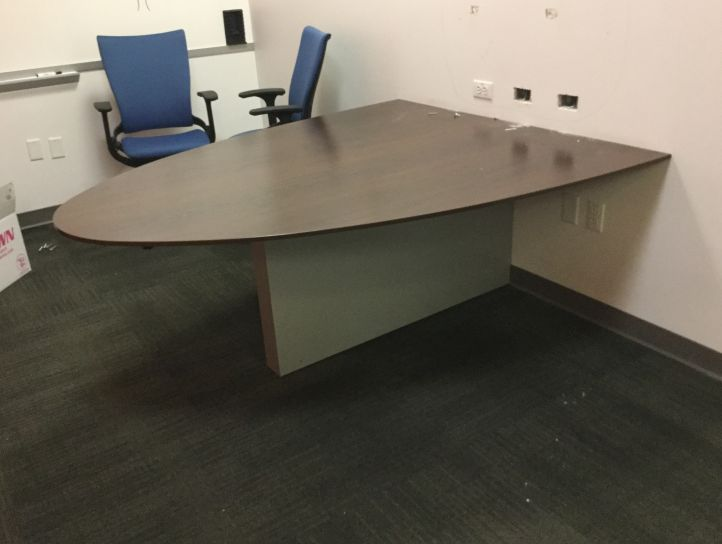 Half Round Laminate Conference Table Bettersource - Half circle conference table